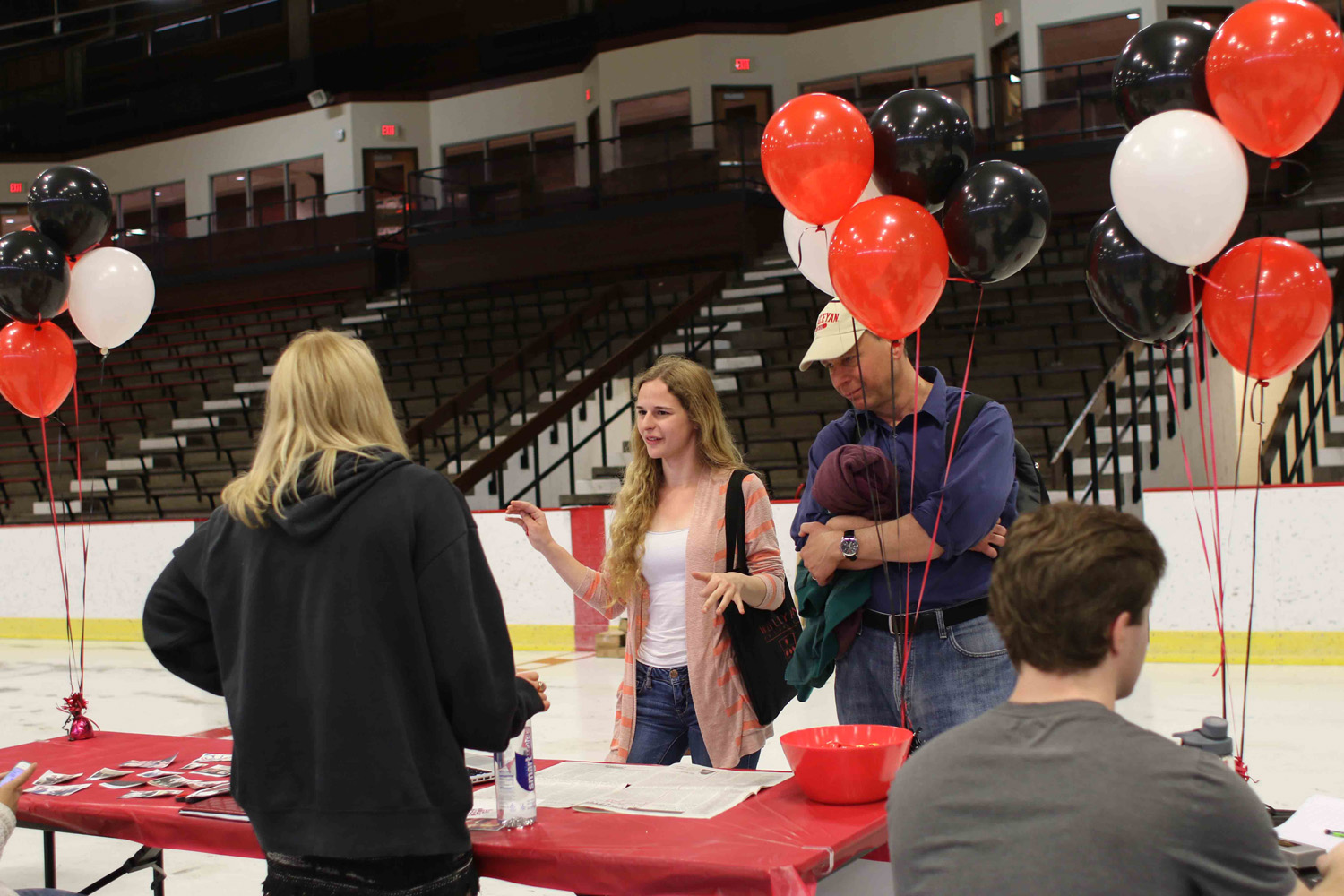 Student activities fair at Freeman Athletic Center, April 17.