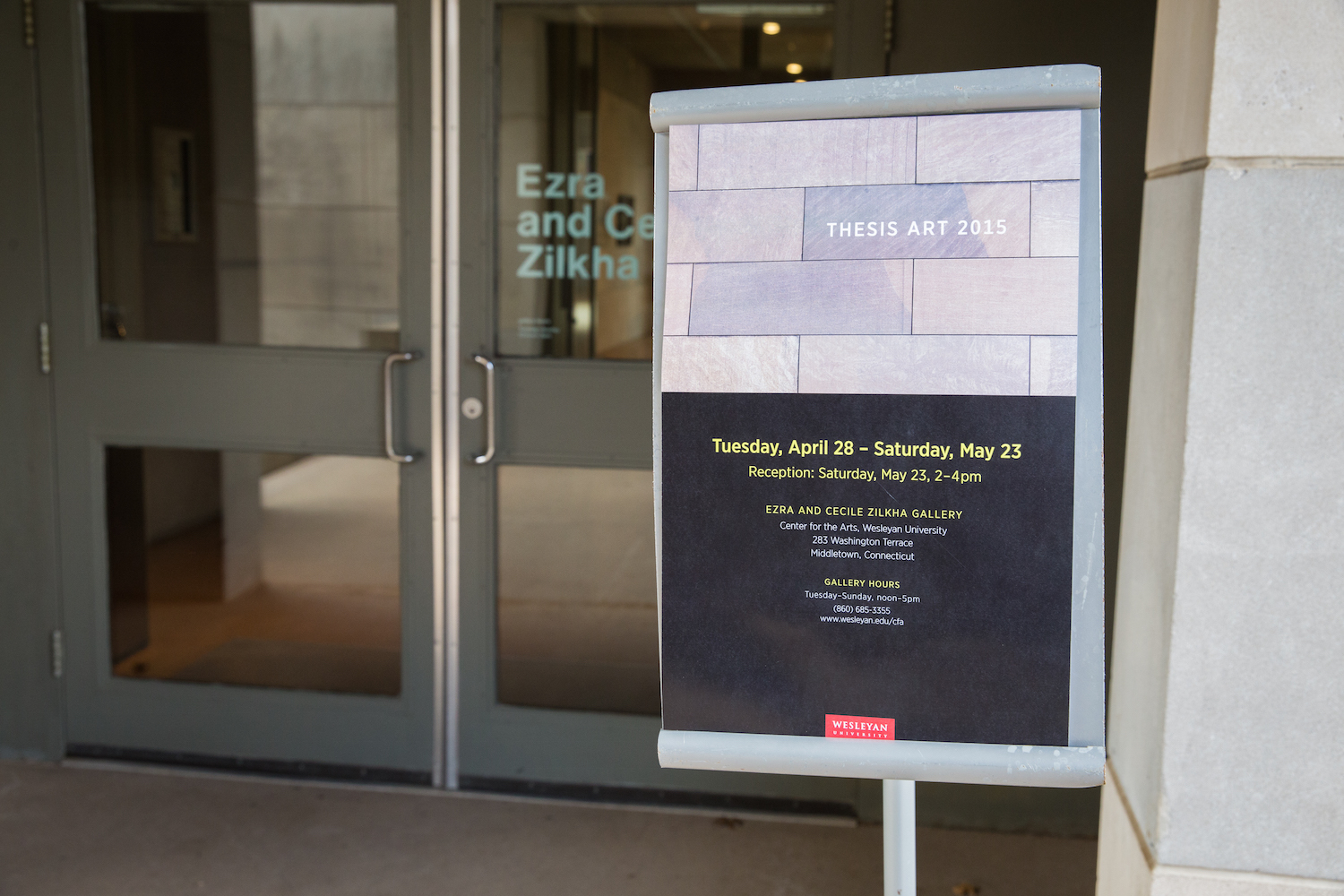 The 2015 Senior Thesis Exhibition was on display at the Ezra and Cecile Zilkha Gallery in April and May.