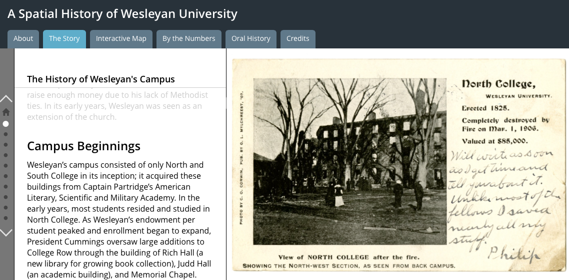 "Learn about the history of Wesleyan's campus in the new ""Spatial History of Wesleyan University"" website."