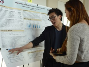 "Harim Jung '16 discusses his research ""Rhythmic Effects of Syntax Processing in Music and Language."""