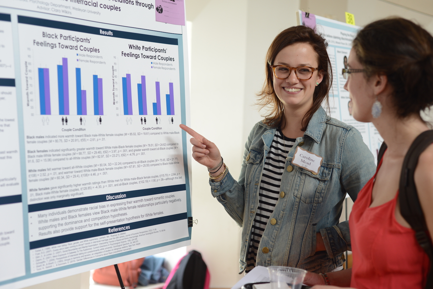 "Caroline Mead '15 discusses her research project, ""Post-racial or Prejudiced? An Examination of Current Race Relations Through Attitudes Toward Black-White Interracial Couples."""