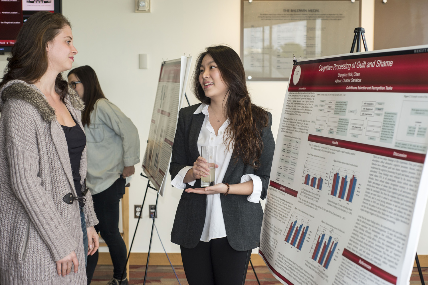 "Shenghao (Isis) Chen '15 presented a poster on ""Cognitive Processing of Guilt and Shame."""