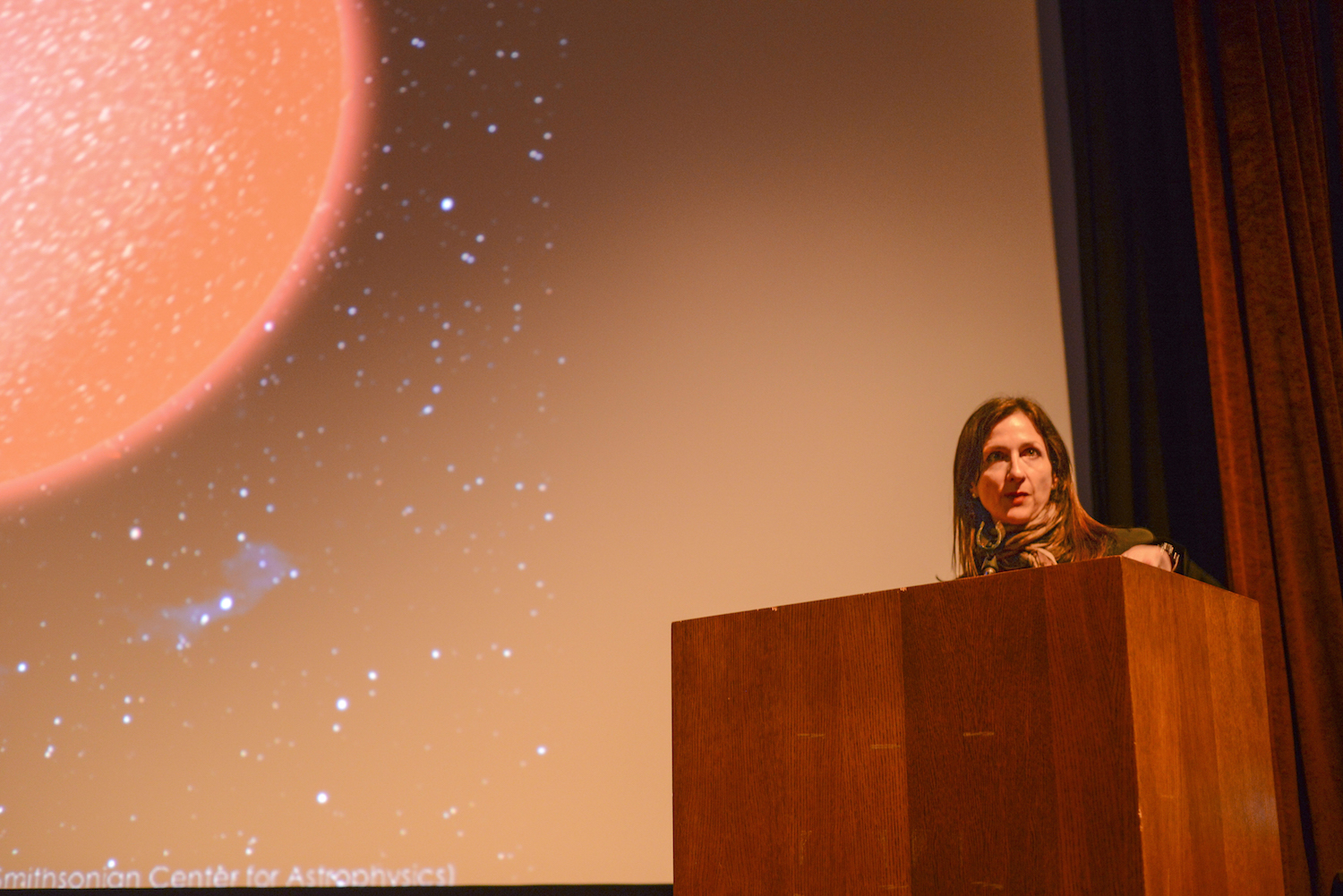 """Seageris apioneerinthe field of exoplanets, specifically in characterizing the atmospheres and searching for life on those distant worlds. Her talk addressedthe age-old question: """"Are we alone?"""""""