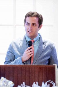 Gabe Rosenberg '16 accepted the Bob Eddy Scholarship to Foster Journalism Careers from the Connecticut Society of Professional Journalists on May 21.