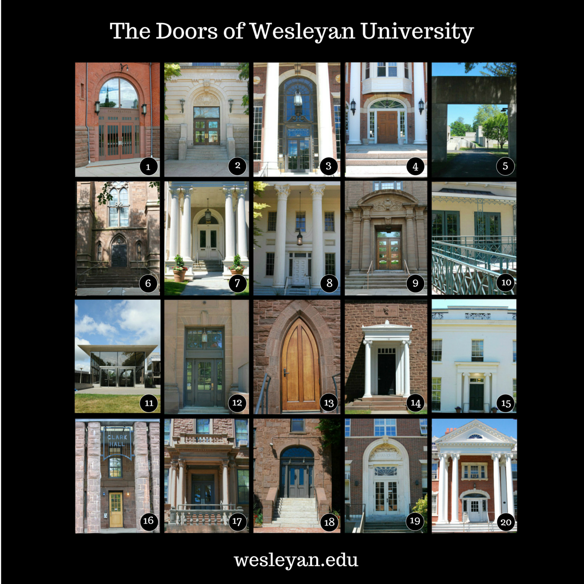 The doors of Wesleyan. (1)