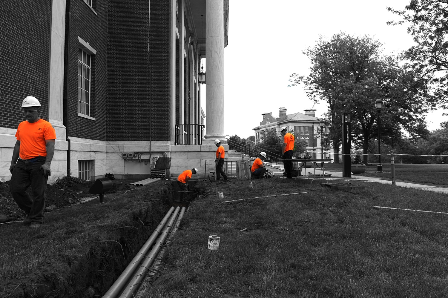 Transformer replacements are taking place at Olin Memorial Library.
