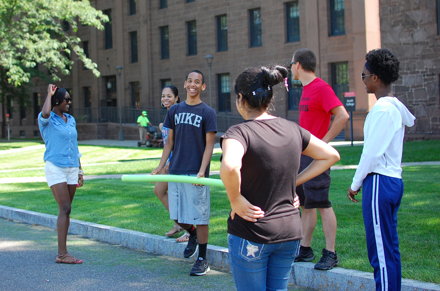 Students participate in Wesleyan's 2015 Upward Bound Program.