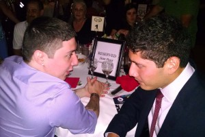Sean Pesce (left) and Po talk during the gala. (Photo by Bryan Stascavage '18)