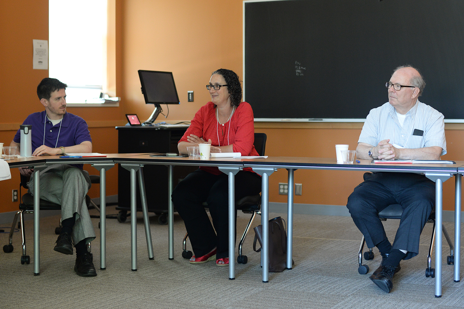 Conference participants also discussed extra-curricular teaching and advising, project based teaching, course titles and materials, teaching finance at a liberal arts college versus a business school, among other topics.