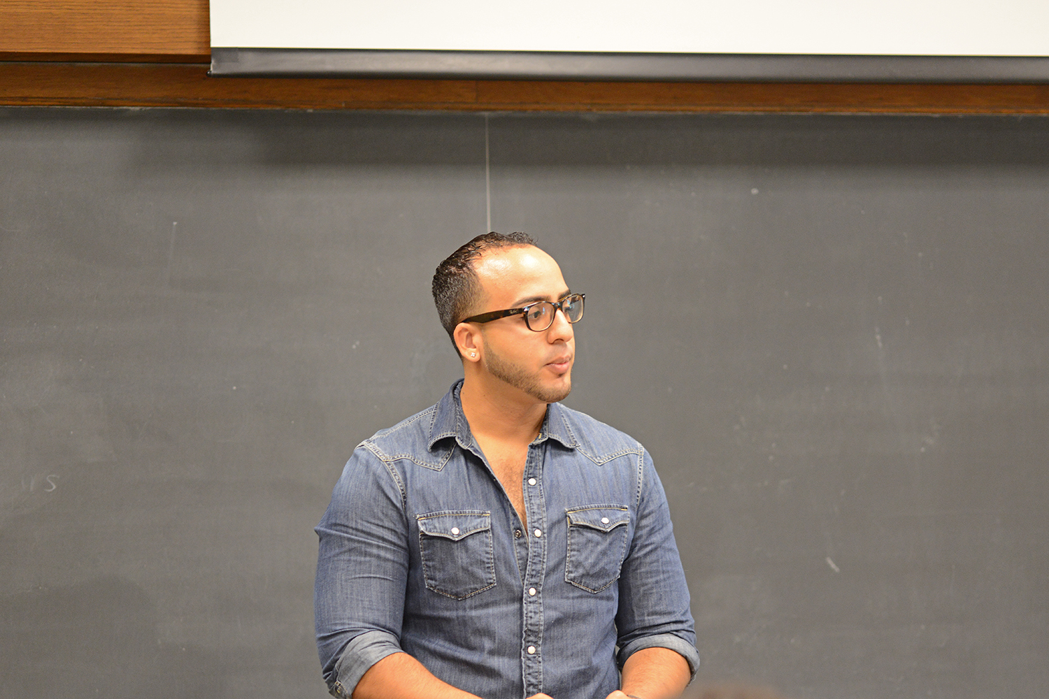 "Andy Rojas spoke on ""Trauma and the Sociological Changes in Japan Caused by the Atomic Bomb."""