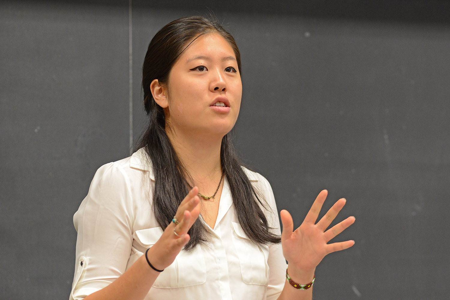 "Lynn Ma '16 presented ""Solitude and the Political Life."""