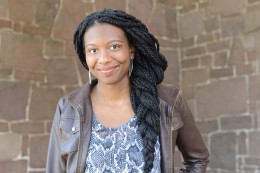 Stacy Uchendu '17 is researching second generation biofuels with Erika Taylor, assistant professor of chemistry and environmental studies, as a McNair Scholar.