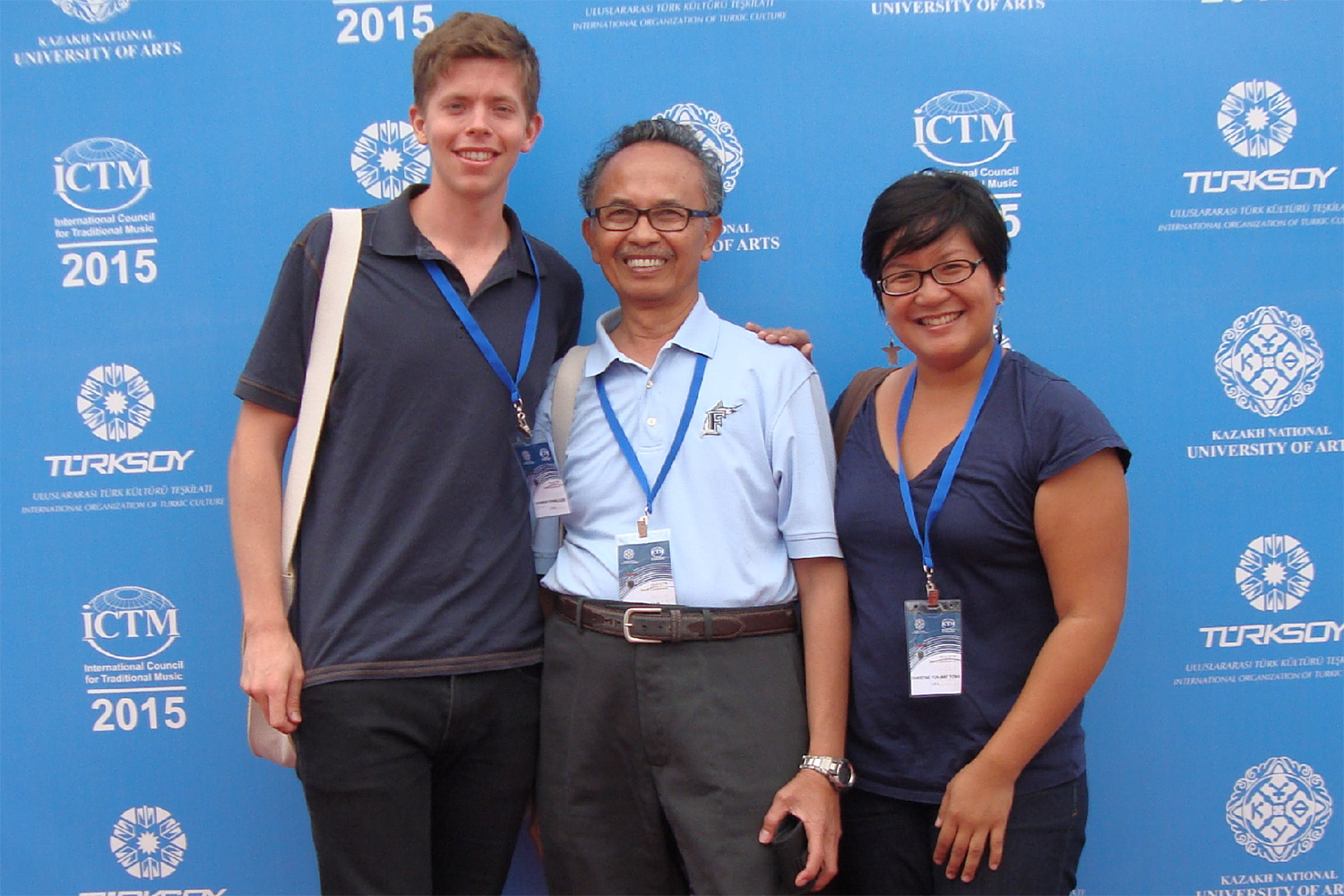 PhD candidate Ander Terwilliger, University Professor of Music Sumarsam and PhD candidate Christine Yong attended the International Council for Traditional Music conference in Astana, Kazakhstan.