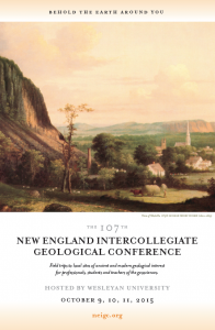 The 107th New England Intercollegiate Geological Conference will  be hosted by Wesleyan in Octobe