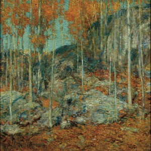 "This Fall's WILL courses include a special one-day program at the Florence Griswold Museum, where this painting, ""The Ledge October in Old Lyme"" by Childe Hassam, is on display."