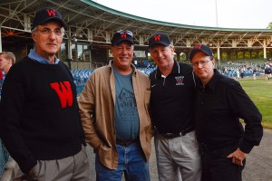 More than 50 Wesleyan alumni attended the historic game.