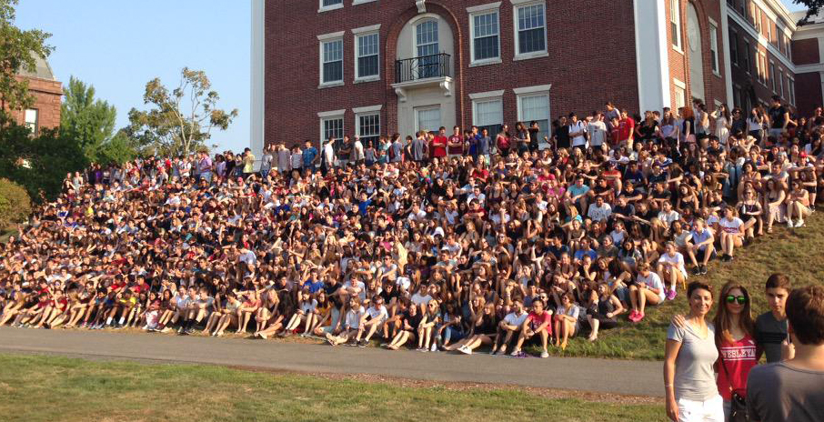 The Class of 2019 gathered for the traditional panoramic class photo Sept. 2.