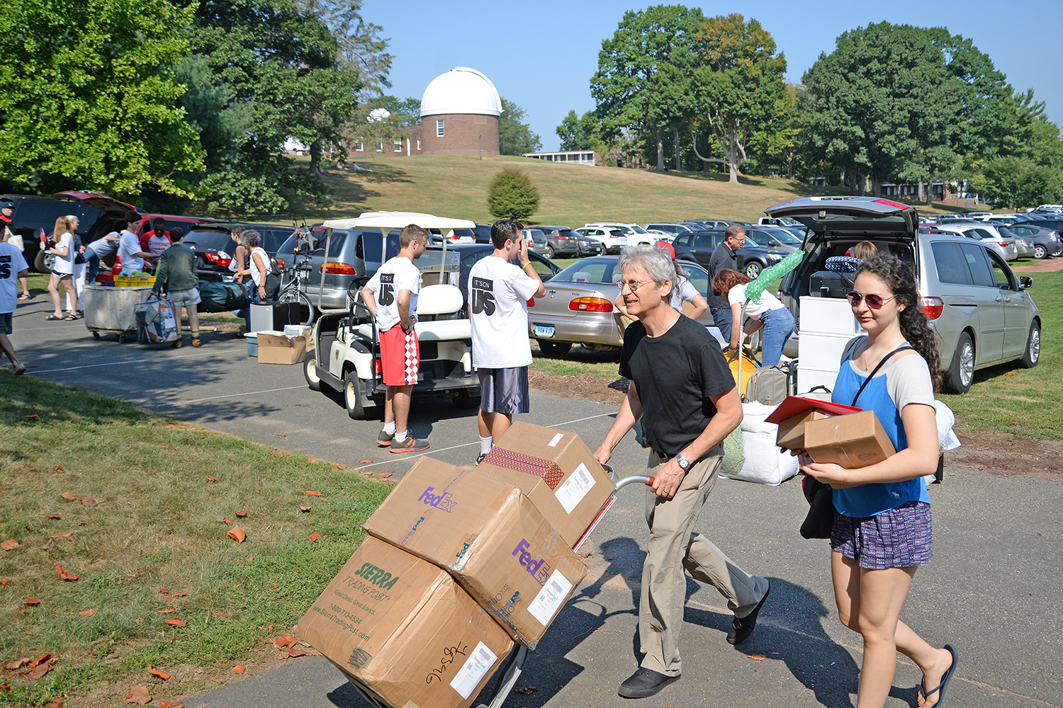 Hundreds of families and friends helped students move into their student residences on Arrival Day Sept. 2.