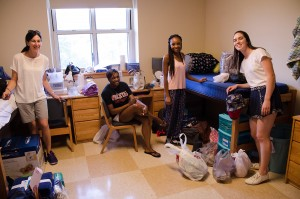Members of the Class of 2019 moved into their student residences on Sept. 2.