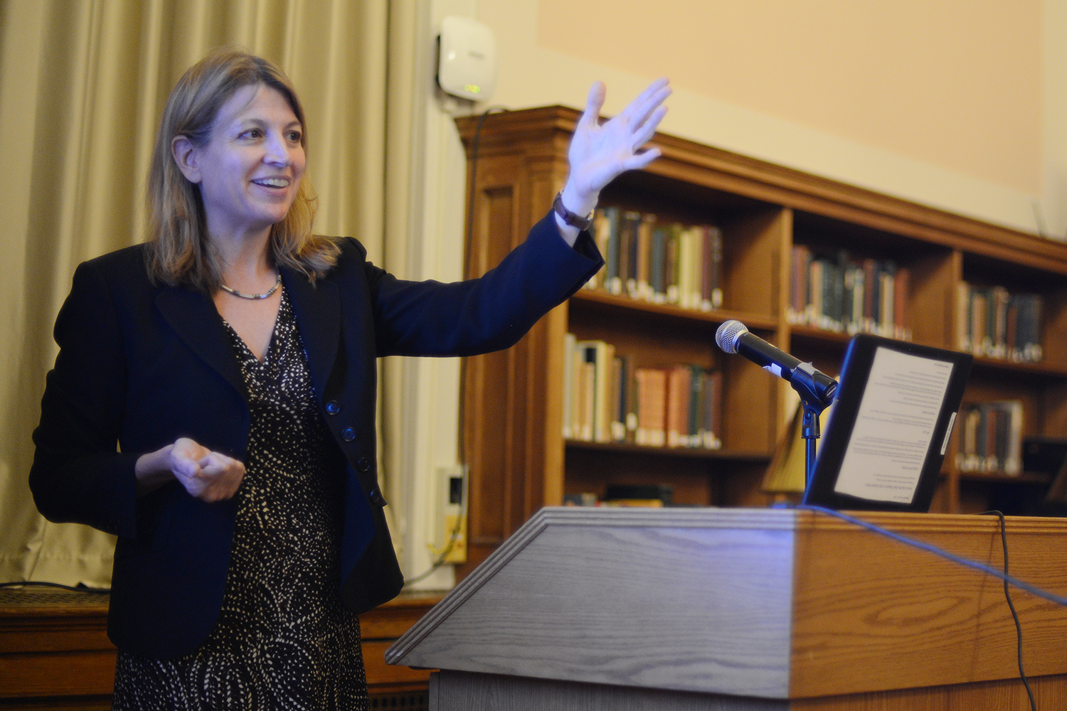"Bethany Berger '90, the Thomas F. Gallivan, Jr. Professor at the University of Connecticut School of Law, delivered the annual Constitution Day Lecture on Sept. 17 in Olin Library's Smith Reading Room. Her topic was ""Birthright Citizenship on Trial — Immigration and Indigeneity."" Egged on by Donald Trump, the majority of Republican candidates have supported ending birthright citizenship. This talk looked at this 14th Amendment right, its constitutional origins, and the different things it meant for American Indians and immigrants."