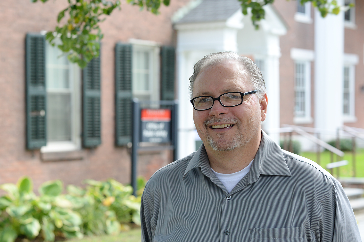"""As Wesleyan's director of public safety, Scott Rohde oversaw the creation of a new """"statement of commitment"""" to the campus."""