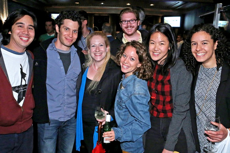 Hamilton was directed by Thomas Kail '99, pictured second from left.
