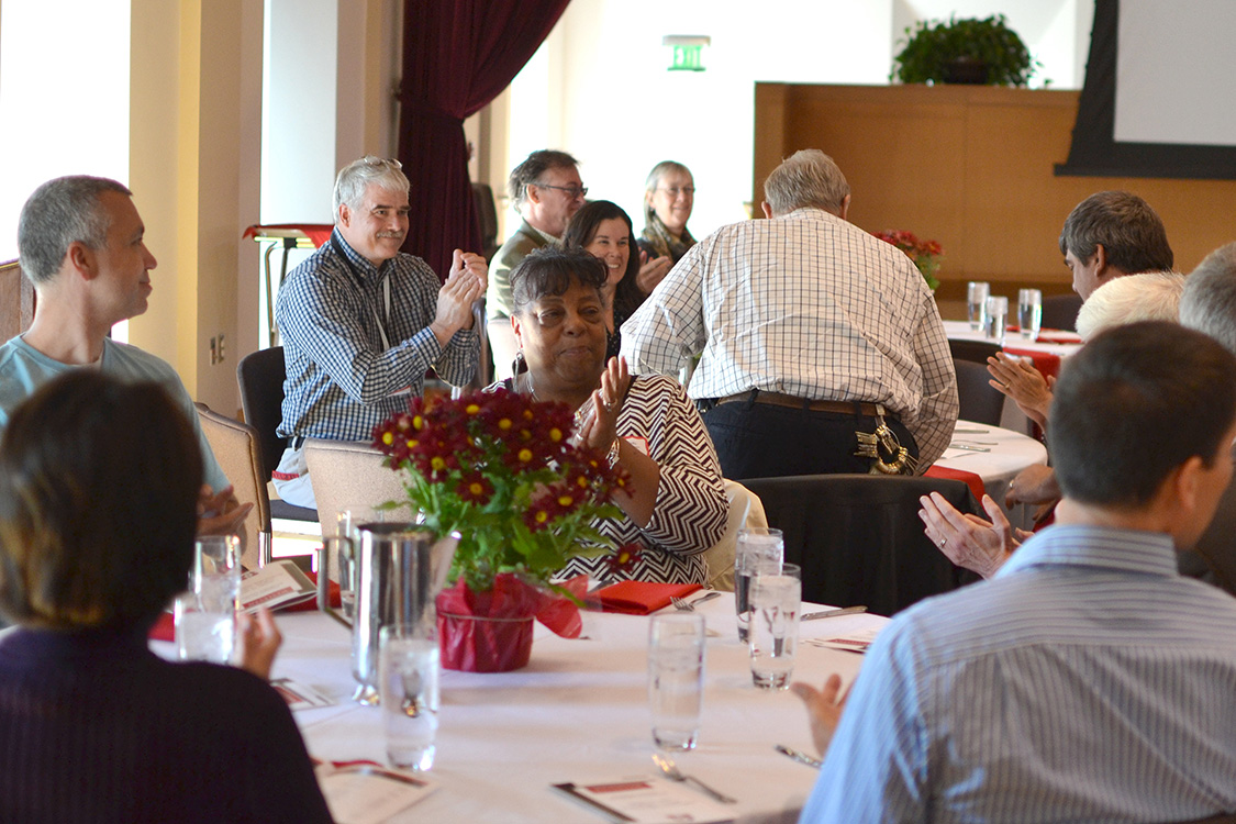 The Employee Service Recognition Luncheon was held on Oct. 19 to recognize numerous faculty and staff for their many years of commitment to the university.