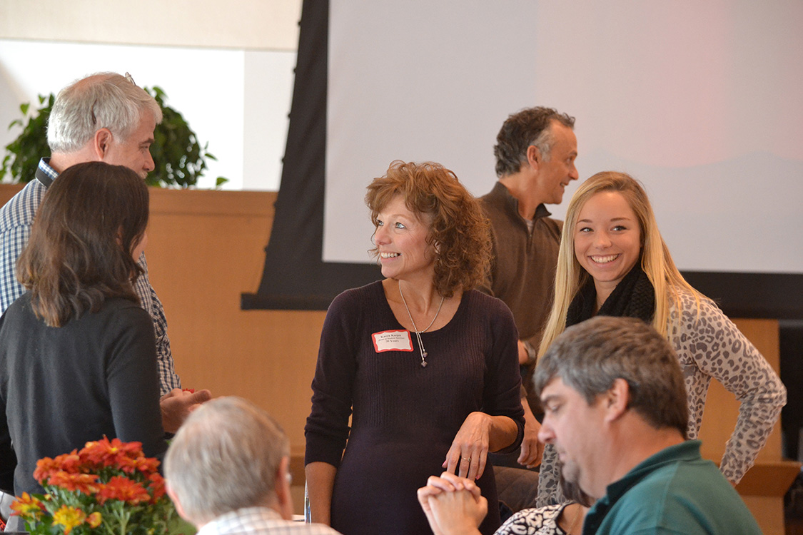 Karen Karpa, administrative assistant for the Office of Student Affairs/Deans' Office, celebrated 20 years at Wesleyan.