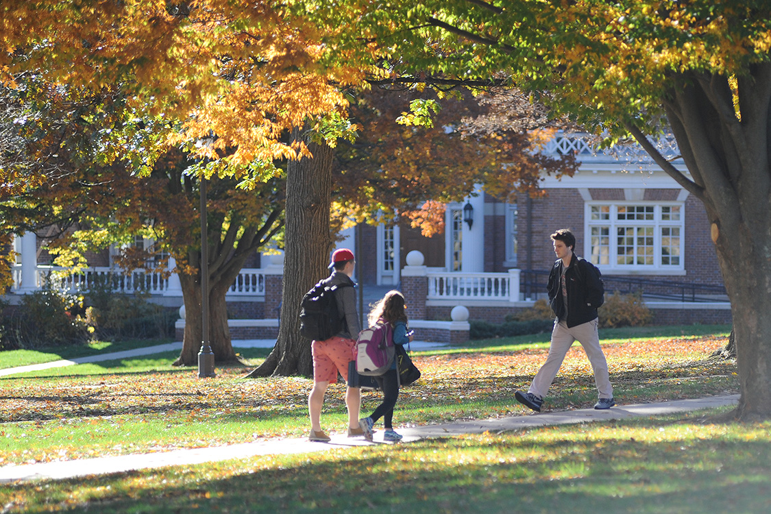 Students on College Row.