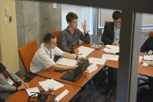 Lipton Galbraith '16 participated in a small panel group that focused on international trade and economic inequality.