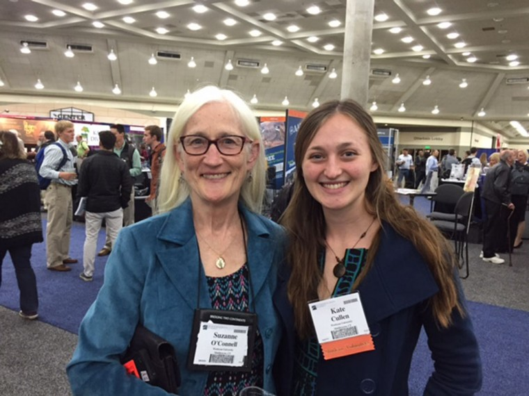 uzanne O'Connell, professor of earth and environmental sciences and faculty director of the McNair Program,  with Kate Cullen '16.