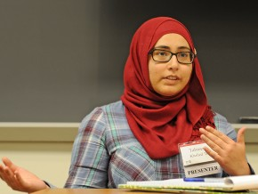 Tahreem Khalied, who moved to the United States from Pakistan two years ago, transferred to Wesleyan for her junior year and decided to declare the American studies major. Khalied initially thought that writing a thesis was not for her, but was encouraged by the freedom that the American Studies Department offered and soon changed her mind. She decided to write a novel based on her experience reconciling her identity as an immigrant and as an American, and including the background in critical social theory she acquired through the American studies major. The novel's title is Just the Right Amount of American, and Khalied jokes that she is the protagonist.