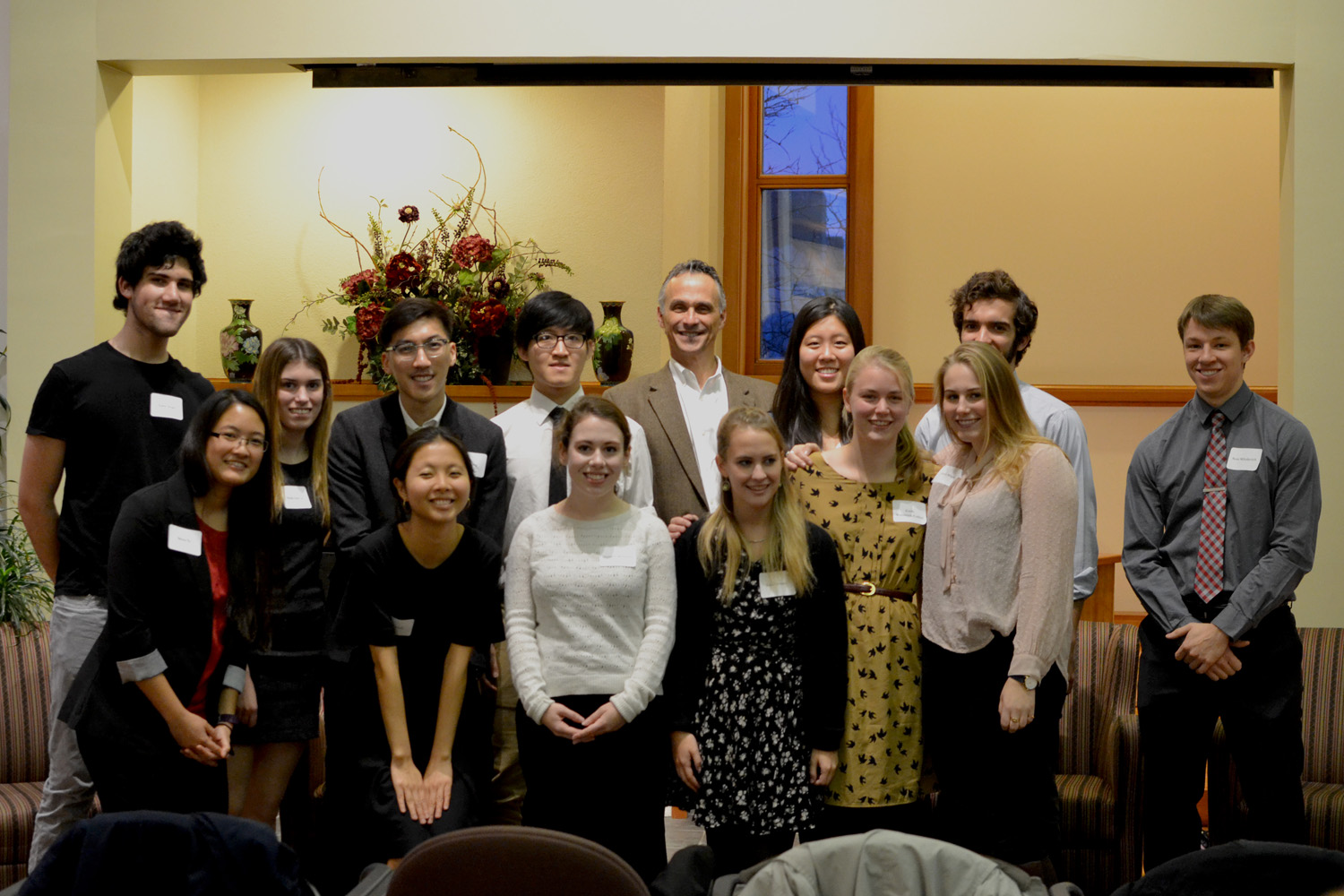 Fifteen students were inducted into the Phi Beta Kappa honors society on December 2nd. These students were elected into the society based on their academic excellence demonstrated within their respective majors.