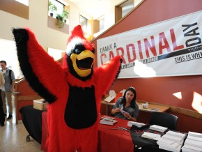 University Relations hosted Thank a Cardinal Day Nov. 16 in Usdan University Center.