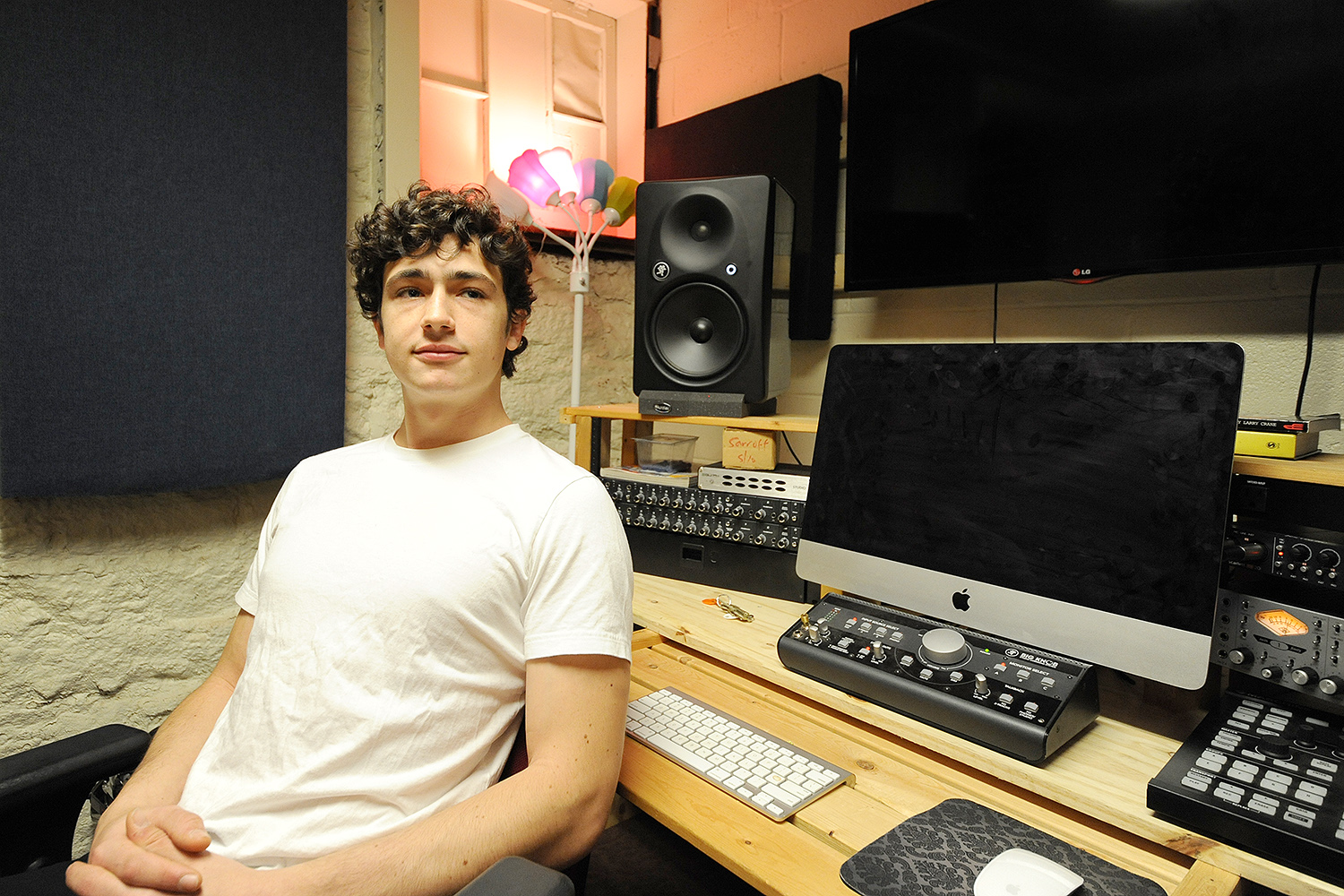 Red Feather Studios head engineer Mikah Feldman-Stein '16 is one of the studio's founding members.