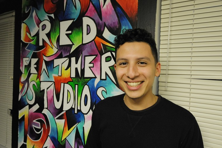 Oscar Parajon '16 at Red Feather Studios.