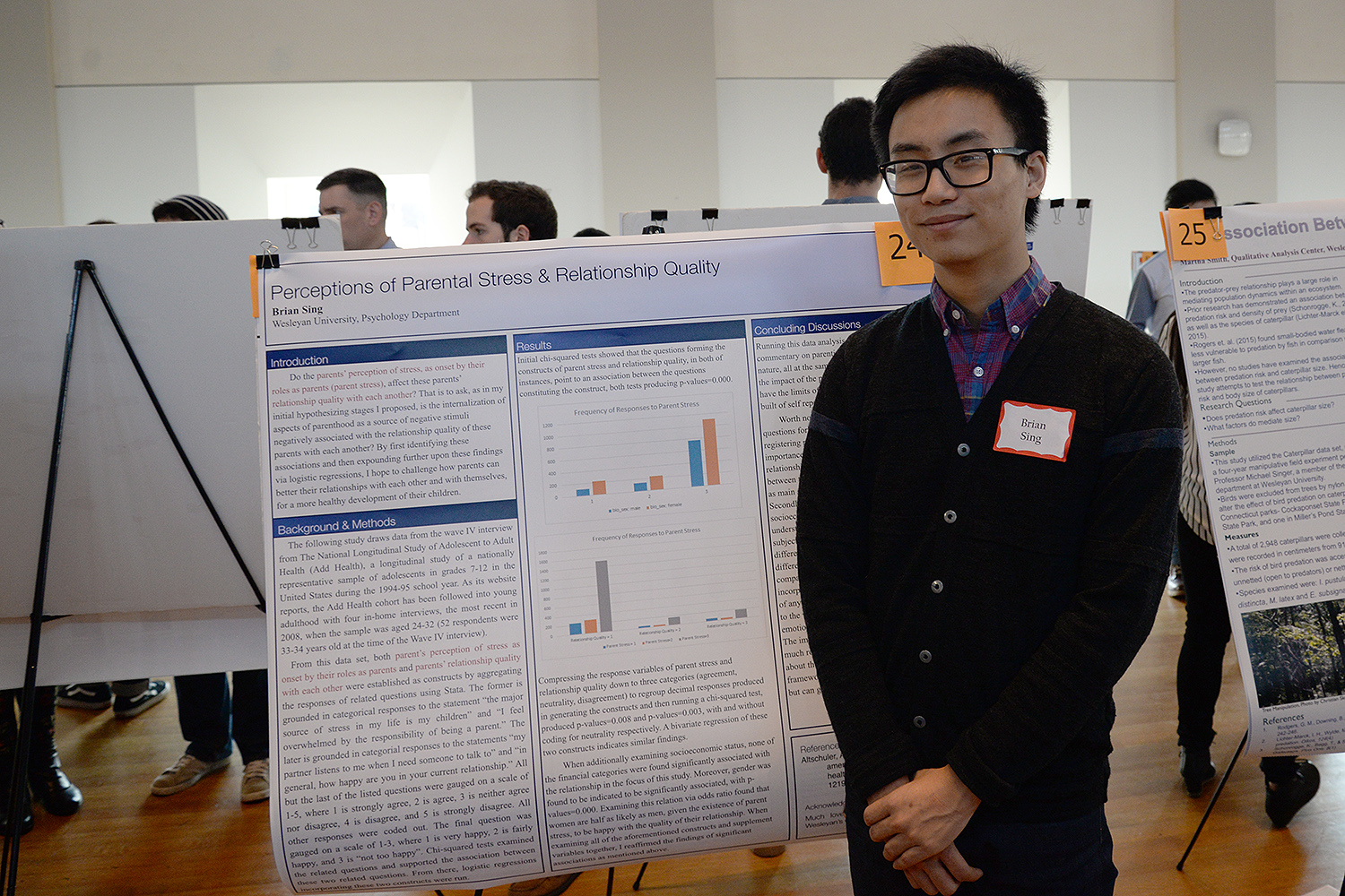 "Brian Sing '17 studied the ""Perceptions of Parental Stress and Relationship Quality."""