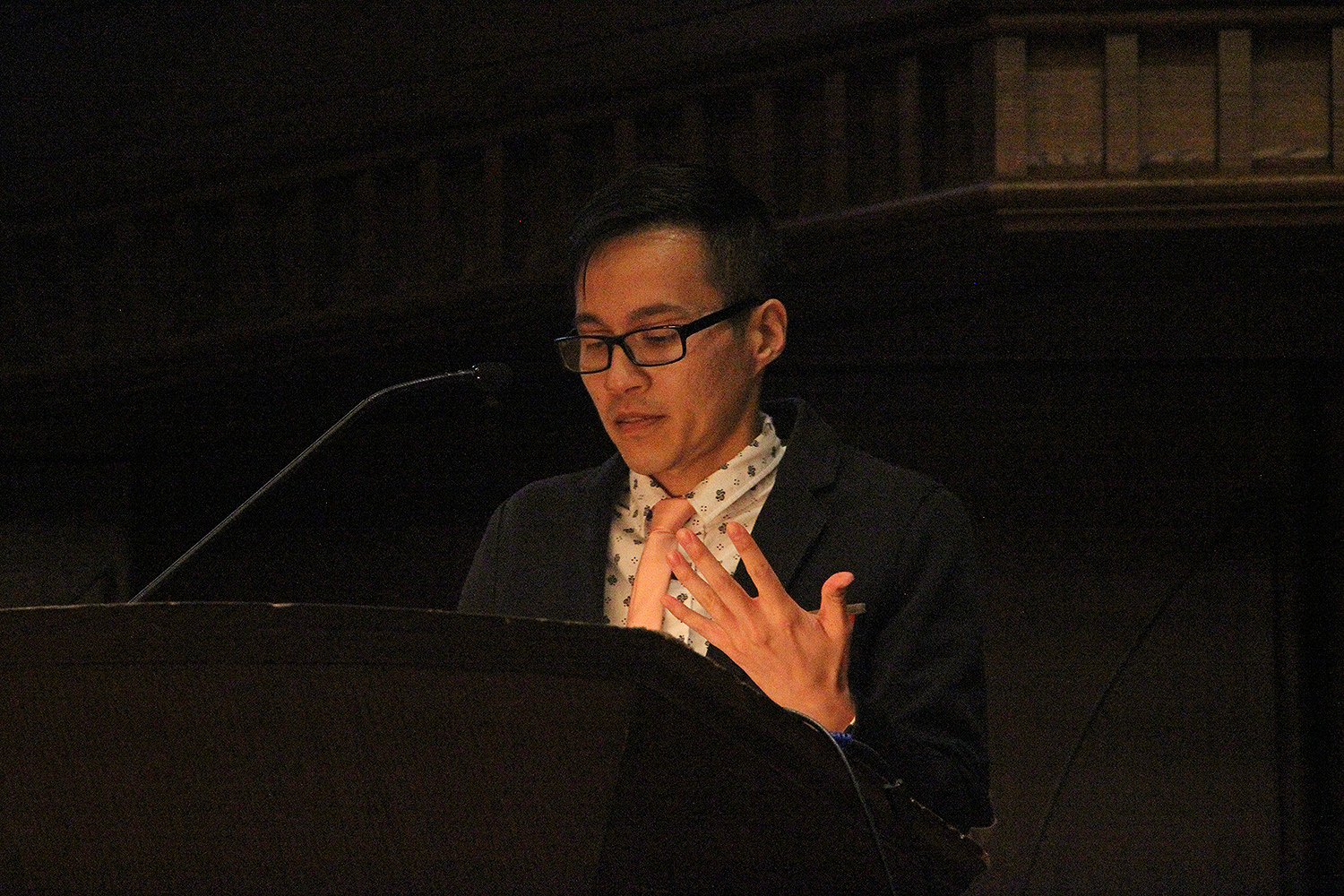 "Long Bui, visiting assistant professor of American studies, spoke on ""Ethnic Studies and the Next American Revolution."""