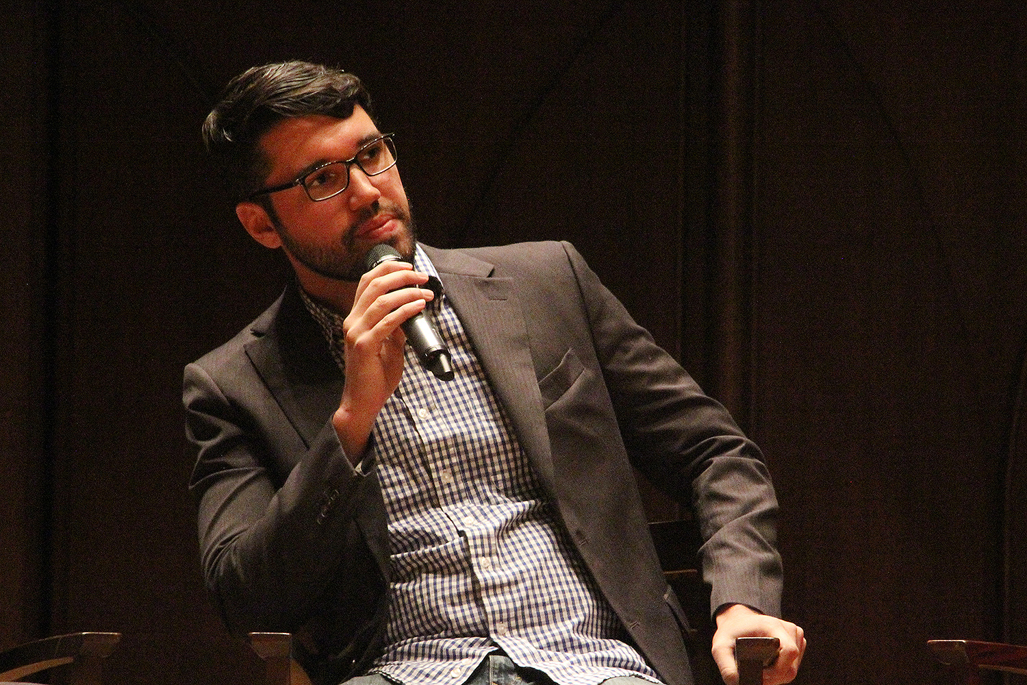 """Yamil Velez, assistant professor of government, spoke on """"How to Build a Wall: Immigration and Nativism in the 21st Century."""""""