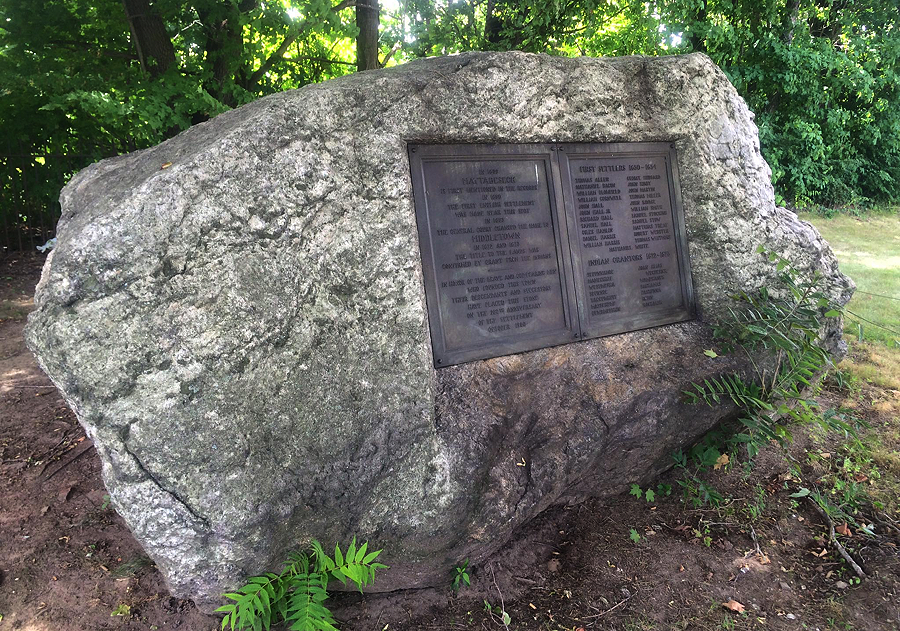 """Founders Rock"" is located at Riverside Cemetery in Middletown."