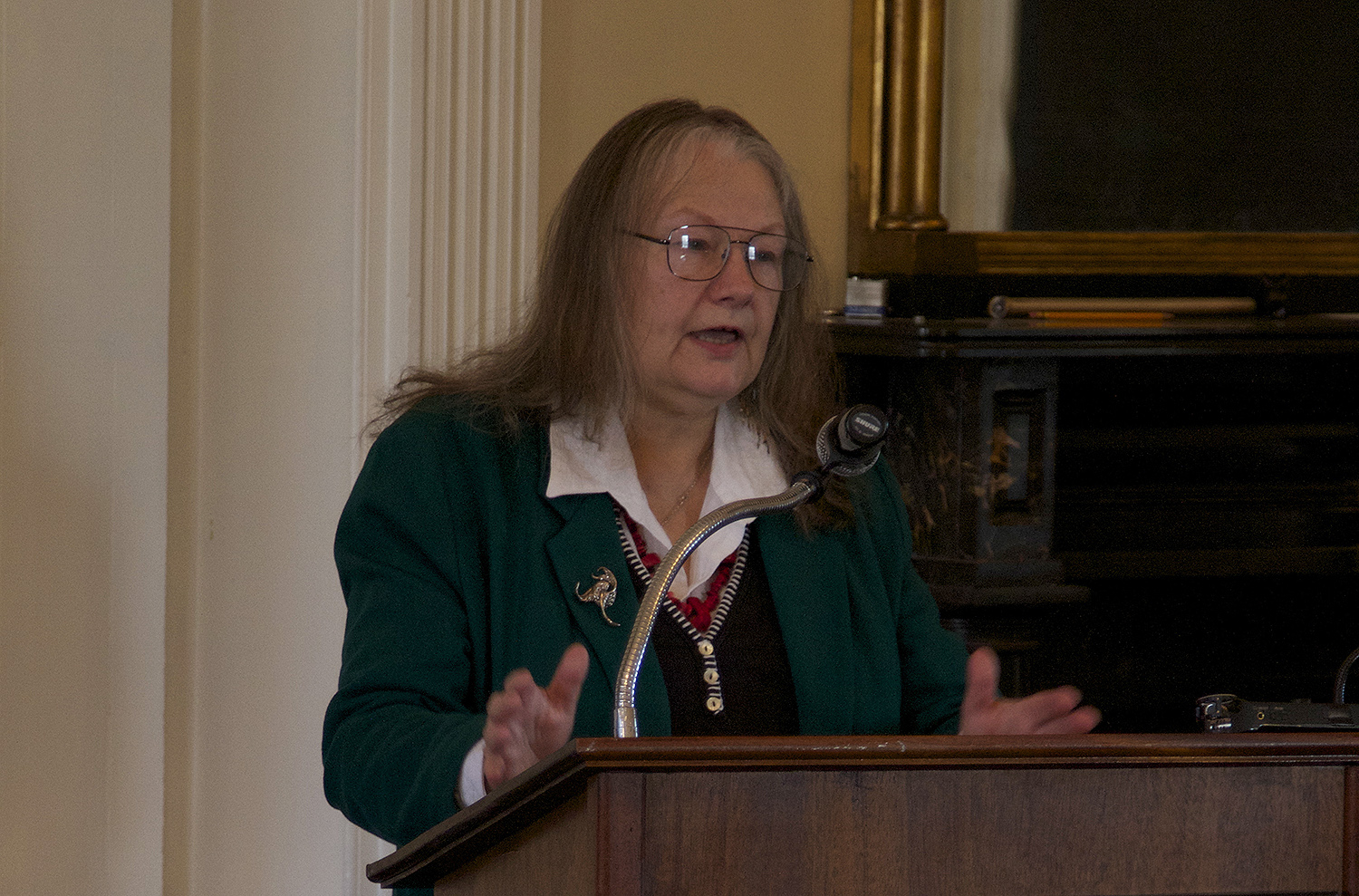 Guest speaker Lucianne Lavin is director of Research and Collections at the Institute for American Indian Studies and author of Connecticut's Indigenous Peoples.