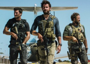 David Denman, John Krasinski and Pablo Schreiber in 13 Hours. (Photo: Dion Beebe/Paramount Pictures)