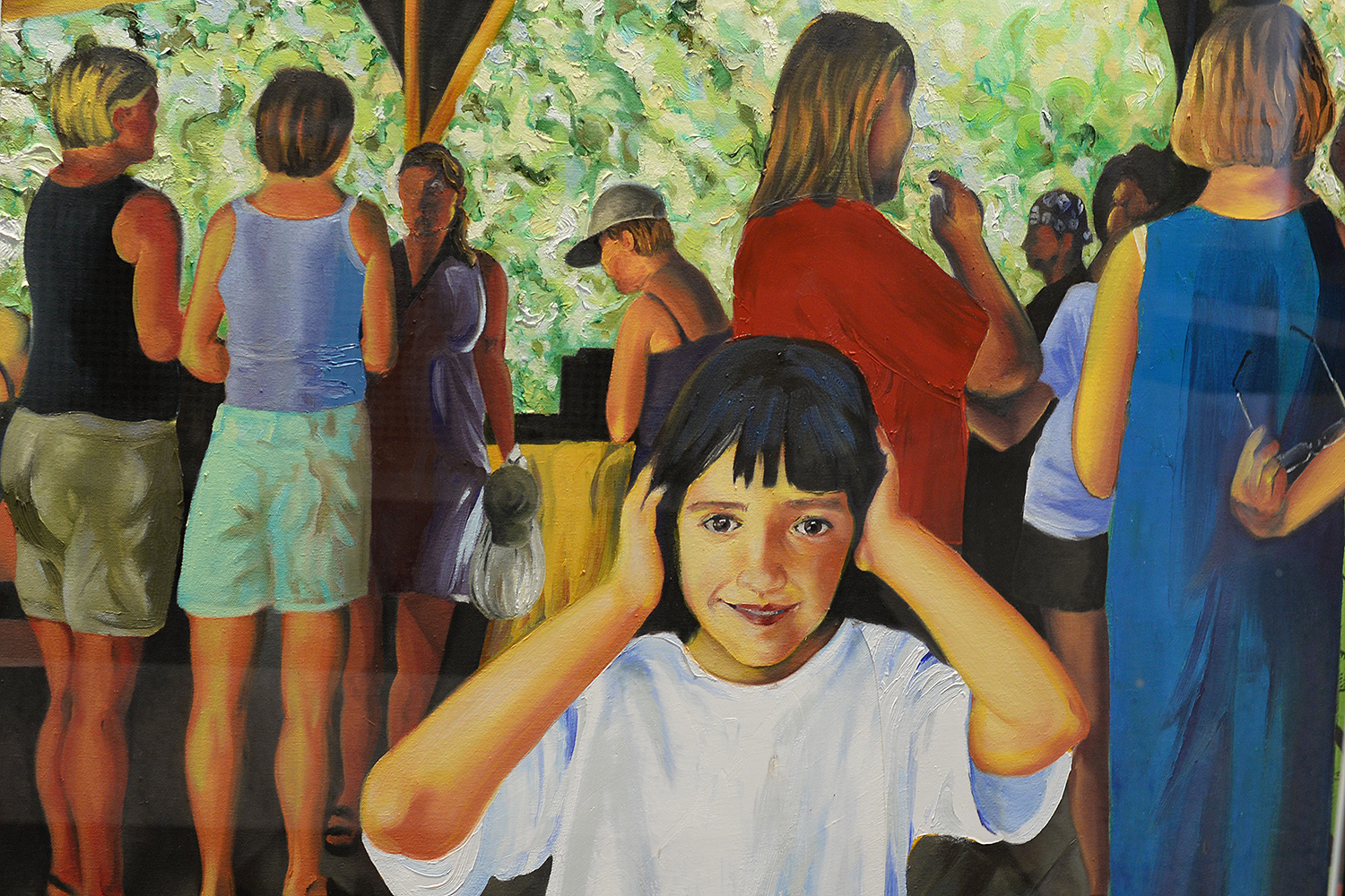 Girl in pavilion by Ariel Ciccone '16.