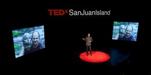 At his TEDx talk, Ian Boyden shares photographs of the stone self-portrait, before and after its river journey