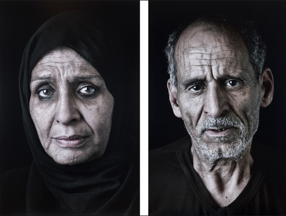 "Shirin Neshat's ""Ghada"" and ""Sayed,"" from the Our House Is on Fire series, 2013. Images courtesy of Gladstone Gallery."