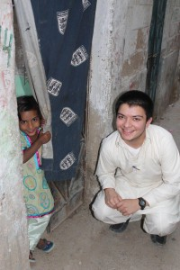 With his own publishing company, Mansoor Alam '15 was the ideal partner for Bevilacqua. In this 2012 photo, Alam was in Karachi, Pakistan, supporting community educational initiatives.