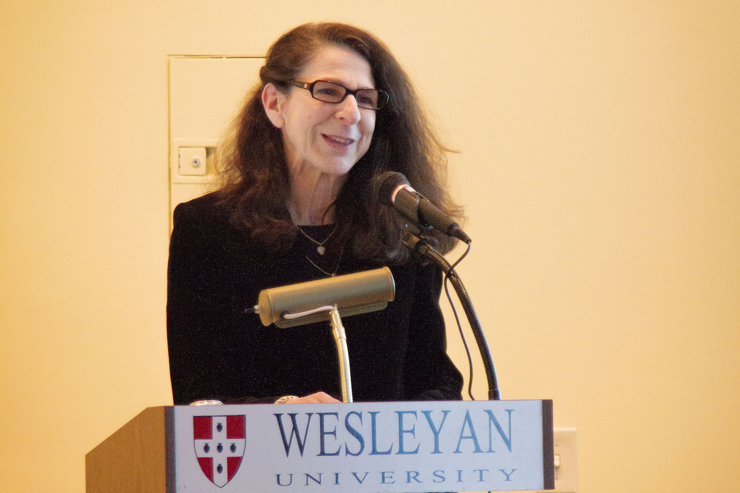 "Anne Greene, director of the Wesleyan Writers Conference, University Professor of English, introduced Koeppel, a former writer, editor, and producer at CBS News, who is the author of ""City On A Grid: How New York Became New York"" (2015). Koeppel has helped Wesleyan establish the Koeppel journalism courses, which bring distinguished journalists to campus each semester to work closely with students. Koeppel's talk was hosted by the Writing Certificate Program and Distinguished Writers Series. A book signing followed the talk."