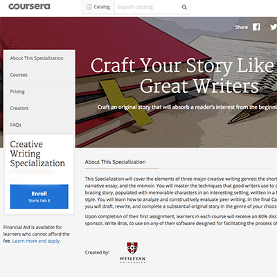 Creative writing mooc