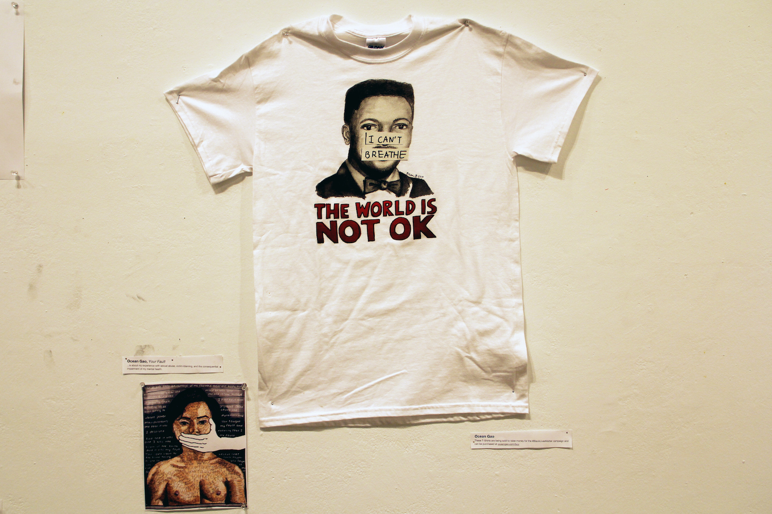 Ocean Gao '19 exhibited their political voice through the platform of art, including a t-shirt they designed to raise money for the #BlackLivesMatter campaign.