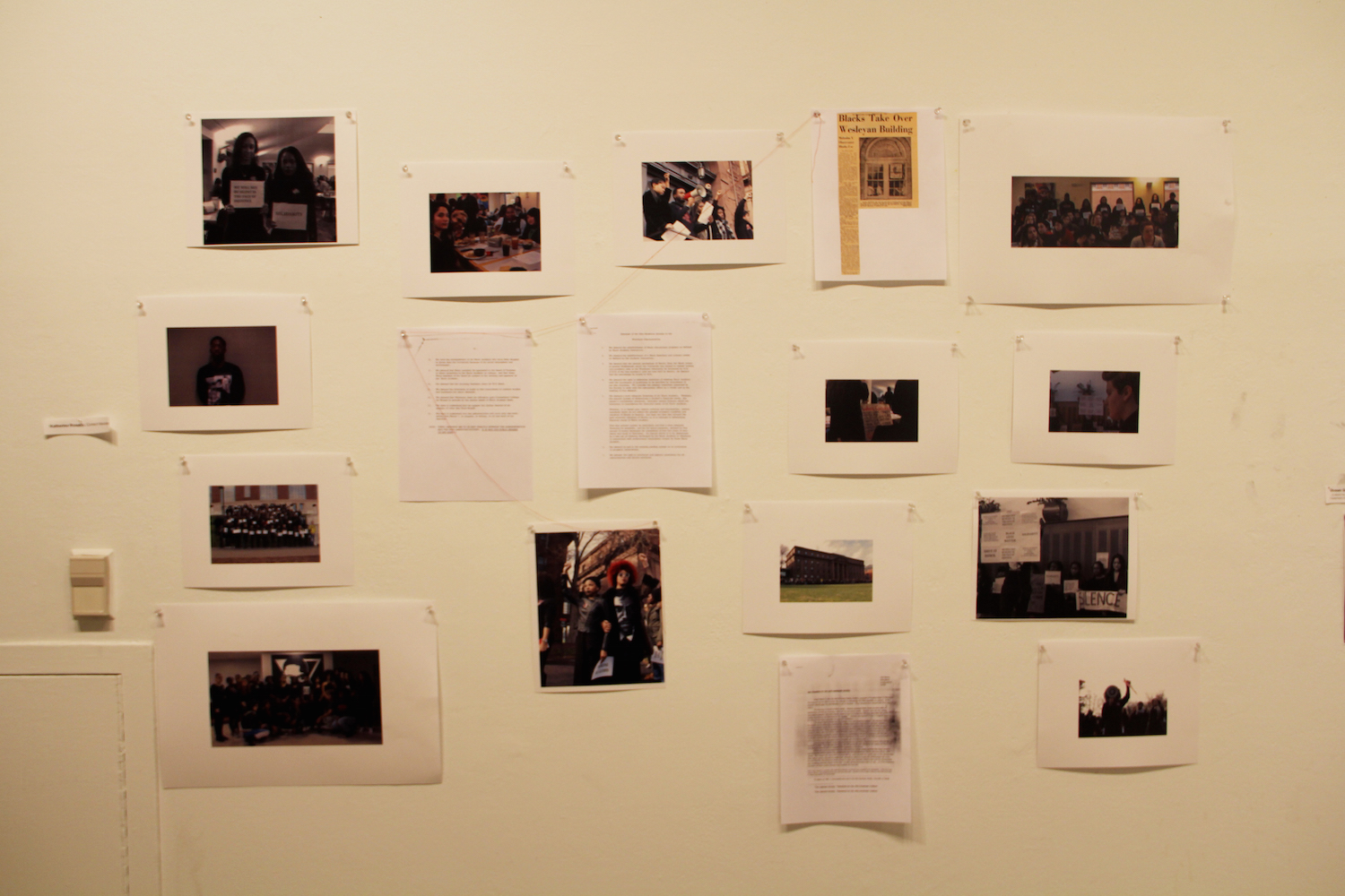 A timeline showing how students of color advocated for more representation and visibility on the Wesleyan campus, created by Katherine Puntiel ​ '19​.